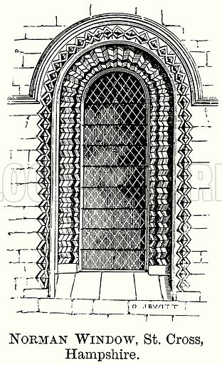 Norman Window, St Cross, Hampshire. Illustration from The Comprehensive History of England (Gresham Publishing, 1902).