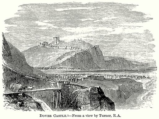 Dover Castle. Illustration from The Comprehensive History of England (Gresham Publishing, 1902).