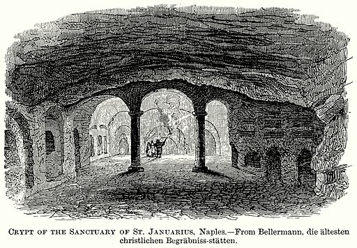 Crypt of the Sanctuary of St Januarius, Naples. Illustration from The Comprehensive History of England (Gresham Publishing, 1902).