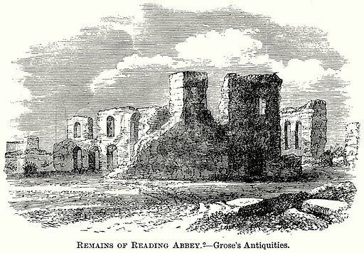 Remains of Reading Abbey. – Grose's Antiquities. Illustration from The Comprehensive History of England (Gresham Publishing, 1902).