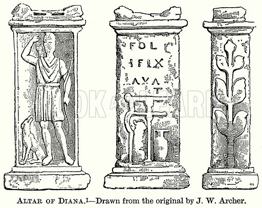 Altar of Diana. Illustration from The Comprehensive History of England (Gresham Publishing, 1902).