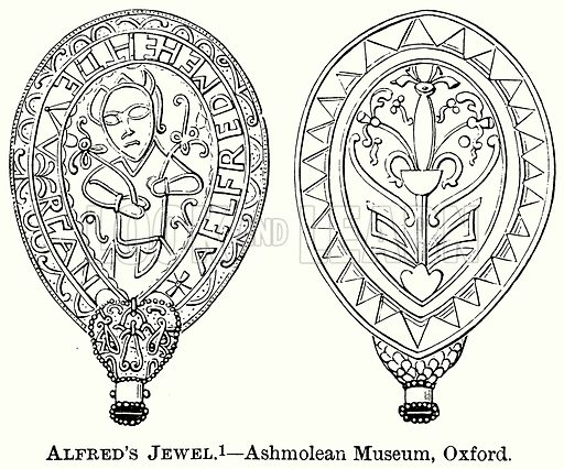 Alfred's Jewel. – Ashmolean Museum, Oxford. Illustration from The Comprehensive History of England (Gresham Publishing, 1902).