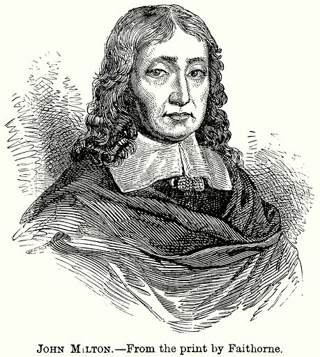 John Milton. Illustration from The Comprehensive History of England (Gresham Publishing, 1902).