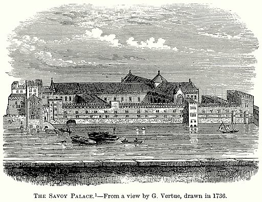 The Savoy Palace. Illustration from The Comprehensive History of England (Gresham Publishing, 1902).