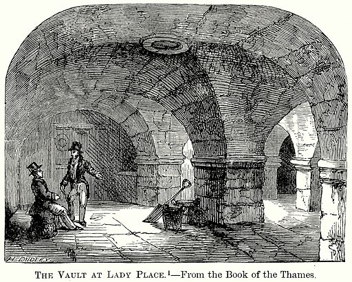The Vault at Lady Place. Illustration from The Comprehensive History of England (Gresham Publishing, 1902).