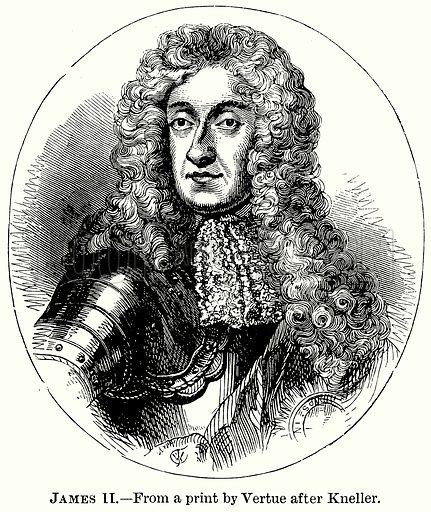 James II. Illustration from The Comprehensive History of England (Gresham Publishing, 1902).