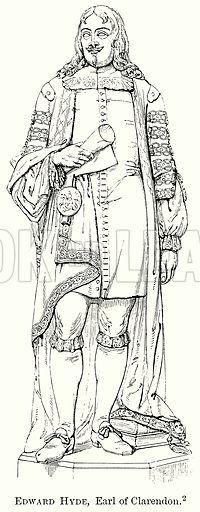 Edward Hyde, Earl of Clarendon. Illustration from The Comprehensive History of England (Gresham Publishing, 1902).