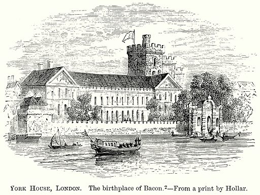 York House, London. The Birthplace of Bacon. Illustration from The Comprehensive History of England (Gresham Publishing, 1902).
