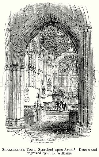 Shakspeare's Tomb, Stratford-upon-Avon. Illustration from The Comprehensive History of England (Gresham Publishing, 1902).