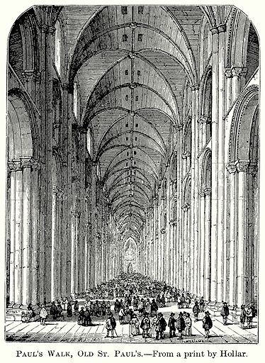 Paul's Walk, Old St Paul's. Illustration from The Comprehensive History of England (Gresham Publishing, 1902).