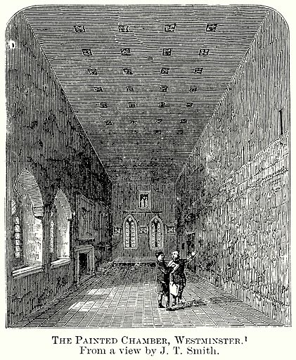 The Painted Chamber, Westminster. Illustration from The Comprehensive History of England (Gresham Publishing, 1902).