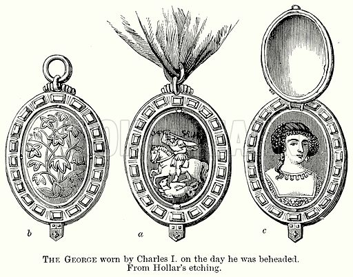The George Worn by Charles I on the Day he was Beheaded. Illustration from The Comprehensive History of England (Gresham Publishing, 1902).