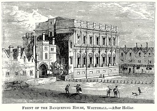 Front of the Banqueting House, Whitehall. Illustration from The Comprehensive History of England (Gresham Publishing, 1902).