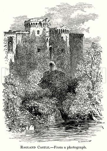 Ragland Castle. Illustration from The Comprehensive History of England (Gresham Publishing, 1902).
