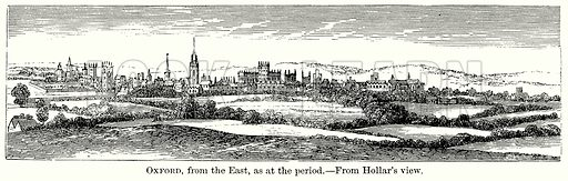 Oxford, from the East, as at the Period. Illustration from The Comprehensive History of England (Gresham Publishing, 1902).