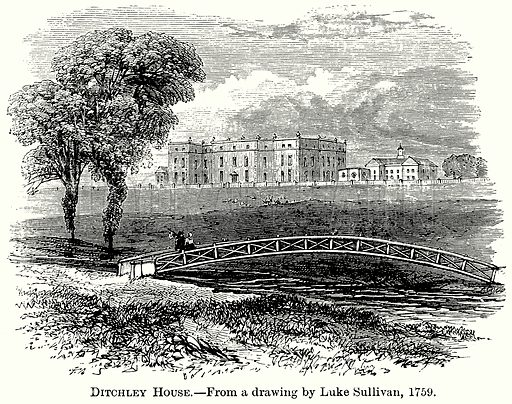 Ditchley House. Illustration from The Comprehensive History of England (Gresham Publishing, 1902).