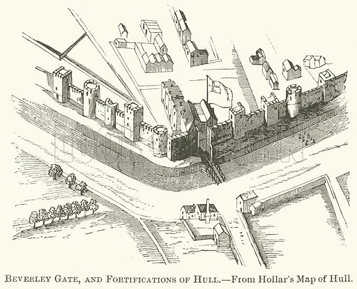 Beverley Gate, and Fortifications of Hull. Illustration from The Comprehensive History of England (Gresham Publishing, 1902).