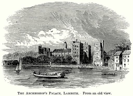 The Archbishop's Palace, Lambeth. Illustration from The Comprehensive History of England (Gresham Publishing, 1902).