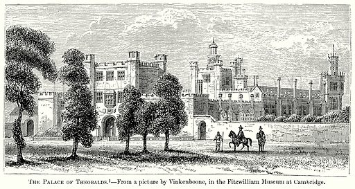 The Palace of Theobalds. Illustration from The Comprehensive History of England (Gresham Publishing, 1902).