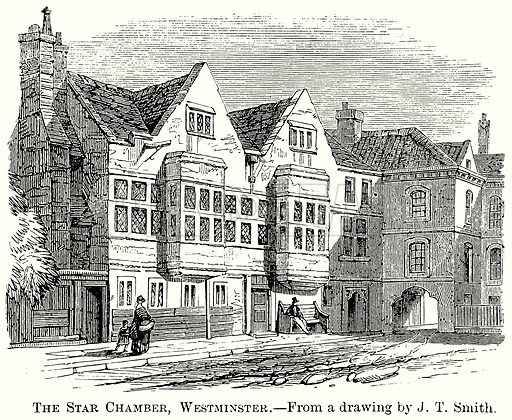 The Star Chamber, Westminster. Illustration from The Comprehensive History of England (Gresham Publishing, 1902).