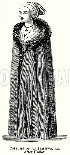 Costume of an Irishwoman. Illustration from The Comprehensive History of England (Gresham Publishing, 1902).