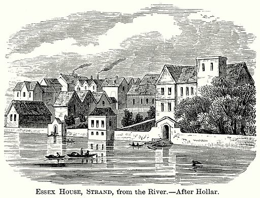 Essex House, Strand, from the River. Illustration from The Comprehensive History of England (Gresham Publishing, 1902).