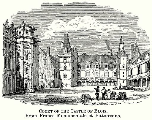 Court of the Castle of Blois. Illustration from The Comprehensive History of England (Gresham Publishing, 1902).