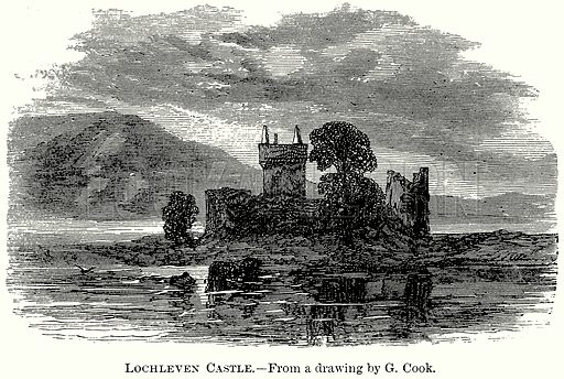 Lochleven Castle. Illustration from The Comprehensive History of England (Gresham Publishing, 1902).