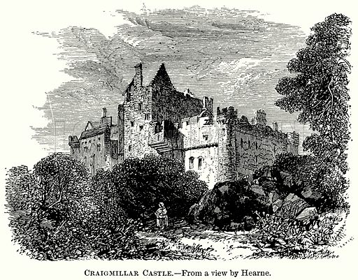 Craigmillar Castle. Illustration from The Comprehensive History of England (Gresham Publishing, 1902).