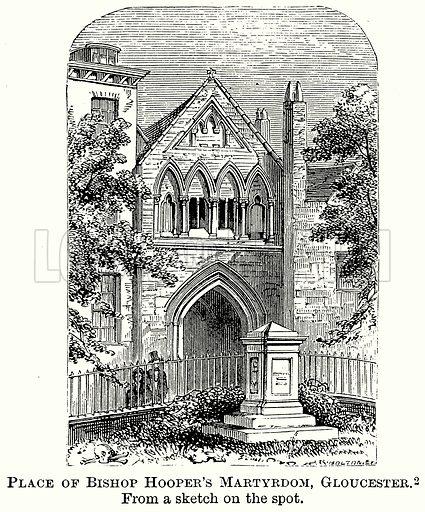 Place of Bishop Hooper's Martyrdom, Gloucester. Illustration from The Comprehensive History of England (Gresham Publishing, 1902).
