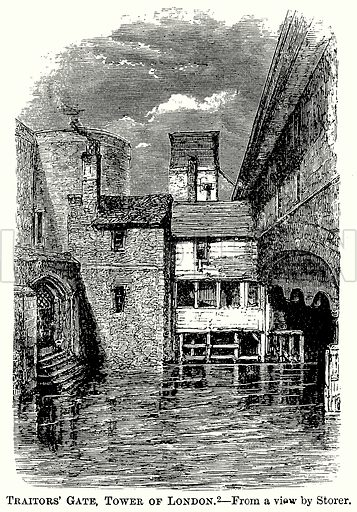 Traitors' Gate, Tower of London. Illustration from The Comprehensive History of England (Gresham Publishing, 1902).