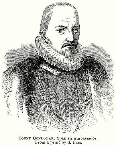 Count Gondomar, Spanish Ambassador. Illustration from The Comprehensive History of England (Gresham Publishing, 1902).