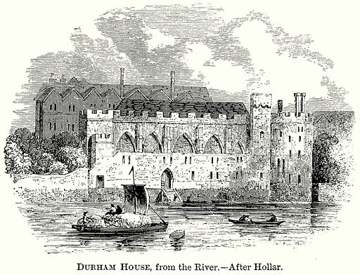 Durham House, from the River. Illustration from The Comprehensive History of England (Gresham Publishing, 1902).