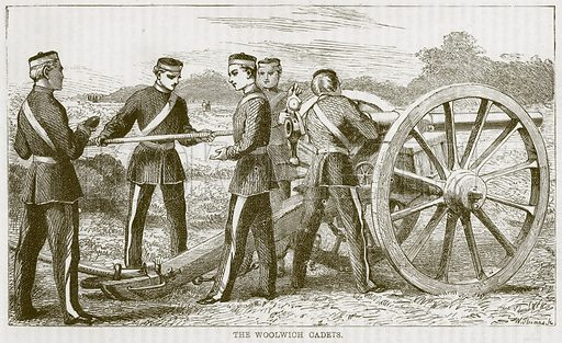 The Woolwich Cadets. Illustration from The Boy's Own Volume (Beeton, c 1860).