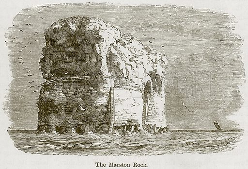 The Marston Rock. Illustration from The Boy's Own Volume (Beeton, c 1860).