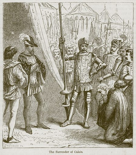The Surrender of Calais. Illustration from The Boy's Own Volume (Beeton, c 1860).