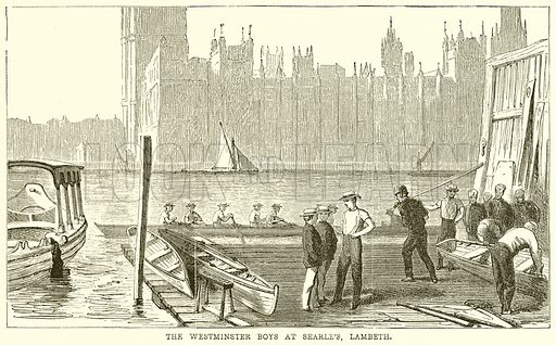 The Westminster Boys at Searle's, Lambeth. Illustration from The Boy's Own Volume (Beeton, c 1860).