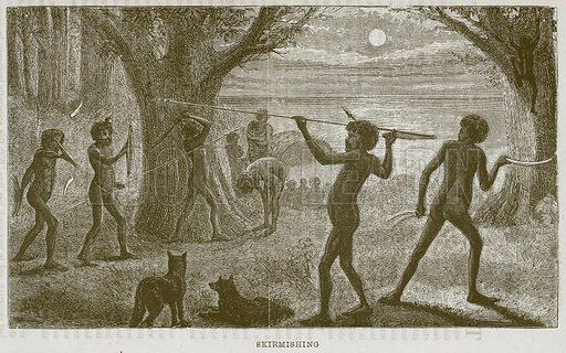 Skirmishing. Illustration from The Boy's Own Volume (Beeton, c 1860).