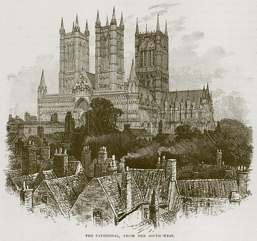 The Cathedral, from the South-West. Illustration from Our Own Country (Cassell, c 1870).