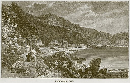 Babbicombe Bay. Illustration from Our Own Country (Cassell, c 1870).