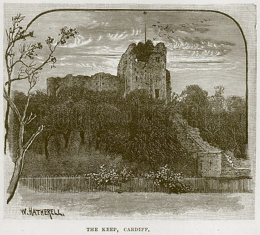 The Keep, Cardiff. Illustration from Our Own Country (Cassell, c 1870).