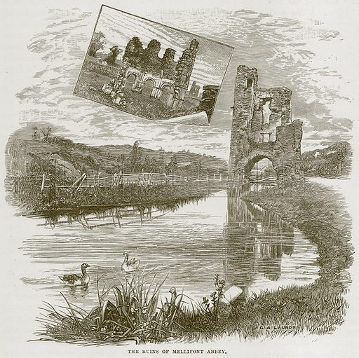 The Ruins of Mellifont Abbey. Illustration from Our Own Country (Cassell, c 1870).
