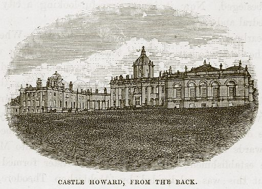 Castle Howard, from the Back. Illustration from Our Own Country (Cassell, c 1870).