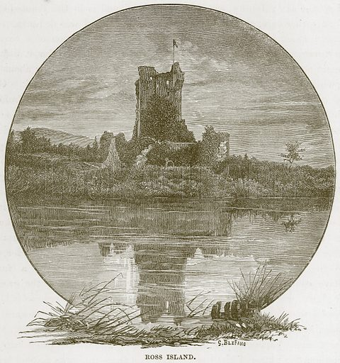 Ross Island. Illustration from Our Own Country (Cassell, c 1870).