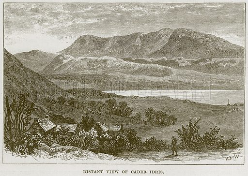 Distant View of Cader Idris. Illustration from Our Own Country (Cassell, c 1870).
