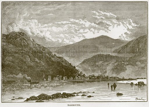 Barmouth. Illustration from Our Own Country (Cassell, c 1870).
