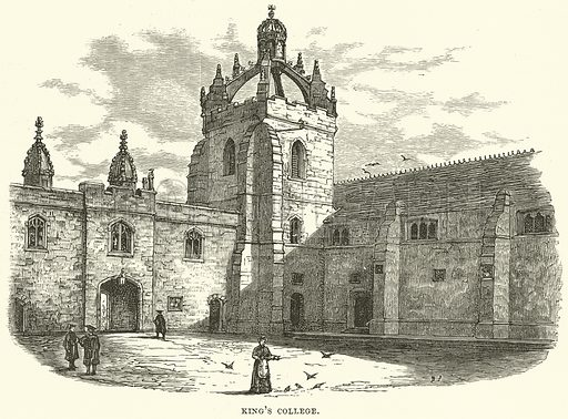 King's College. Illustration from Our Own Country (Cassell, c 1870).