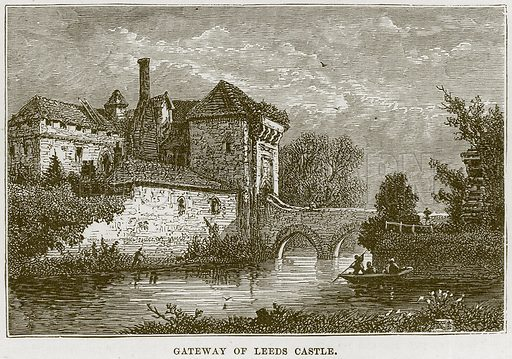 Gateway of Leeds Castle. Illustration from Our Own Country (Cassell, c 1870).