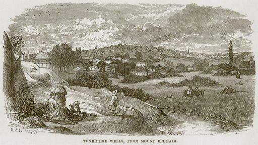 Tunbridge Wells, from Mount Ephraim. Illustration from Our Own Country (Cassell, c 1870).