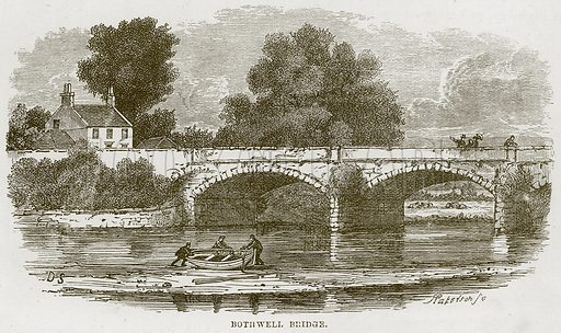 Bothwell Bridge. Illustration from Our Own Country (Cassell, c 1870).